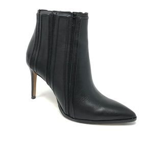 Donald J Pliner Leather Black Booties 7.5M Pointy